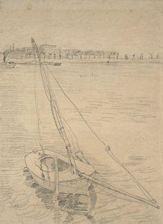 Zeilboot op de Seine bij Asnières, 1887, Vincent van Gogh, Van Gogh Museum, Amsterdam (Vincent van Gogh Stichting)