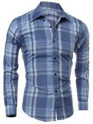 Gamiss - Gamiss Shirt Collar Long Sleeves Shirt - AdoreWe.com