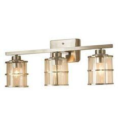 allen + roth 3-Light Kenross Brushed Nickel Bathroom Vanity Light