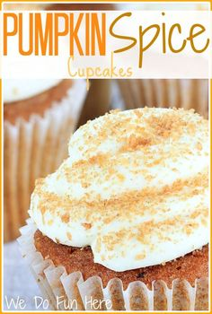 Pumpkin spice cupcakes. This recipe is really good, I've made it twice already!.