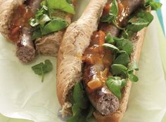Boerewors rolls with chakalaka • You don't get more South African than this flavour combination! It's a great idea for those days when you don't want to spend too much time behind the stove.