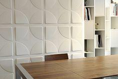 Habillage de mur, tête de lit, personnalisation de meuble, ... un grand nombre de possibilités s'offrent à vous avec les panneaux décors 3D ! Panneau Mural 3d, Piece A Vivre, 3d Wall, Divider, Room, Furniture, Home Decor, Google, Wall Cladding