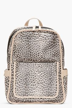 Marc By Marc Jacobs Beige Leopardmania Leather Backpack