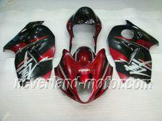 SUZUKI GSX-R 1300 1996-2007 Hayabusa ABS Fairing - Red/Black  #fairinghayabusa #hayabusafairingkit