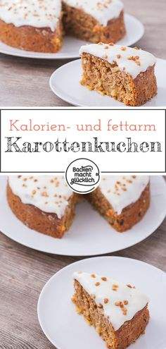 Gesunder Karottenkuchen The perfect healthy carrot cake. There is hardly any sugar or fat in this juicy carrot cake. So the ideal carrot cake for a healthy Easter. Kid Desserts, Healthy Dessert Recipes, Appetizer Recipes, Cake Recipes, Soap Recipes, Brownie Recipes, Dinner Recipes, Dessert Simple, Healthy Carrot Cakes