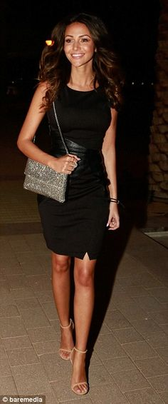 LBD chic: The former Corrie star wowed in her figure-hugging frock with her tanned legs on...
