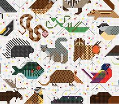Designtex + Charley Harper: Space for All Species