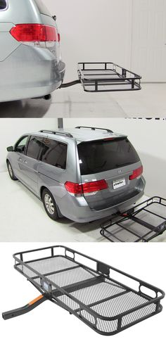 ... Camping And Other Gear With This Hitch Cargo Carrier. Raised Rails Keep  Gear In Place And Provide Tie Down Points. Compatible With The Honda Odyssey .