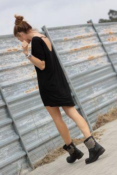 black dress - by bartabac