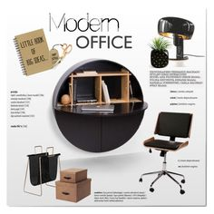 """""""Modern Home Office"""" by viva-12 on Polyvore featuring interior, interiors, interior design, home, home decor, interior decorating, Formagenda, Bigso, home office and modern"""