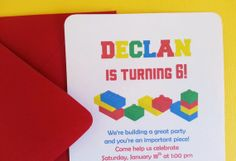 Lego Inspired / Colorful Blocks Birthday Party by LittleMavens, $23.40