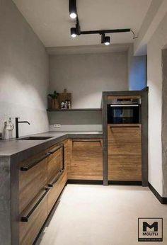 Küchenstudio Kitchen Decoration how to decorate kitchen walls Studio Kitchen, New Kitchen, Kitchen Interior, Kitchen Decor, Kitchen Ideas, Kitchen Modern, Loft Kitchen, Eclectic Kitchen, Rustic Kitchen