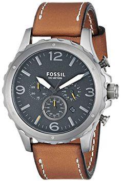 Fossil Men's JR1467 Nate Analog Display Analog Quartz Brown Watch