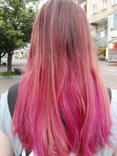 #hair #ombre #pink