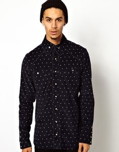 Vivienne Westwood Anglomania Cord Black Shirt in All-Over Orb Print