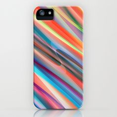 multicolored lines  iPhone & iPod Case by Christine baessler - $35.00