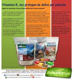 Contra polución, vitaminas B
