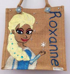 Handmade Medium shopper or school bag Personalised Jute Bags, School Bags, Burlap, Reusable Tote Bags, Medium, Handmade, Felting, Hand Made, Hessian Fabric