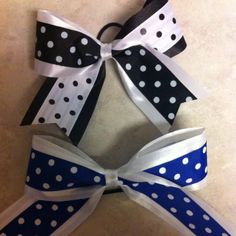 DIY cheer bows