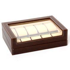 Horlogebox Gisoni Pruno voor 10 horloges ( Gratis verzending )