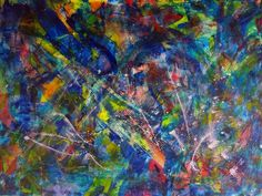 ARTFINDER: Rainbow deconstruction (overturned) by Nestor Toro - Vibrant abstract painting with beautiful details and colors. This piece is full of texture, lots of motion and light. Contains iridescent effects and beautif. Abstract Painters, Abstract Landscape, Abstract Art, Abstract Nature, Abstract Drawings, Picasso Paintings, Original Paintings, Original Art, Rainbow Painting