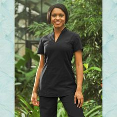 Womens Spa Tunics OPEIA SPA TUNIC BLACK