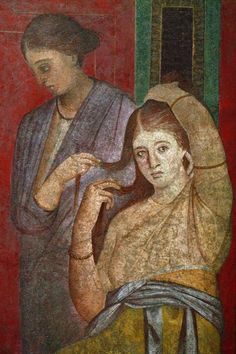 Roman fresco in the Villa of the Mysteries, Pompeii Ancient Pompeii, Pompeii And Herculaneum, Roman History, Art History, European History, American History, Rome Painting, Renaissance, Pompeii Italy