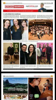 Versão impressa da coluna Social Ramon Barros deste fim de semana Jornal Aqui Notícias