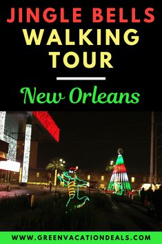 Experience NOLA at Christmas time on a New Orleans Jingle Bells Walking Tour. See the holiday lights & decorations at French Quarter. New Orleans Christmas, Christmas Events, Christmas Travel, Christmas Vacation, Holiday Travel, Holidays And Events, Christmas Time, Christmas Ideas, Tours New Orleans