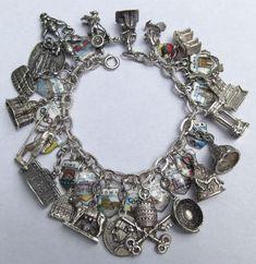 Silver Roman Holiday Charm Bracelet. Italy
