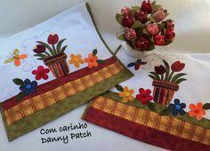Panos de copa com aplicação em tecidos nacionais e importados. As cores e aplicações podem variar de acordo com seu gosto. R$ 32,00