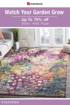 Bring the vibrant colors of the flower patch indoors with this stunning rug from Safavieh's Monaco Collection. The perfect size to bring room decor into focus, the durable area rug reflects the beauty of abstract and watercolor art. Up to 70% off Select Safavieh Area Rugs*