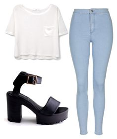 """""""Outfit"""" by ewciatomaszek on Polyvore featuring MANGO and Topshop"""