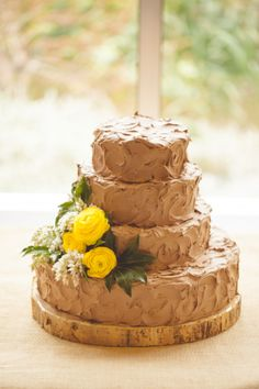 chocolate wedding cake by Julie Bilbro