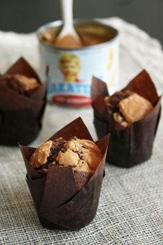 Muffins au chocolat, noix de pécan et beurre de cacahuètes