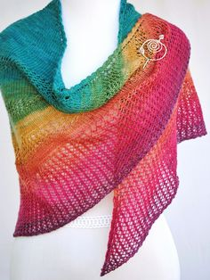 Apparent Plot PDF Knitting Pattern Download Triangle Shawl