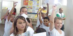 Alunos da EMEF Prof. Arlindo Bessa Júnior visitam agência dos Correios - http://projac.com.br/noticias/alunos-da-emef-prof-arlindo-bessa-junior-visitam-agencia-dos-correios.html
