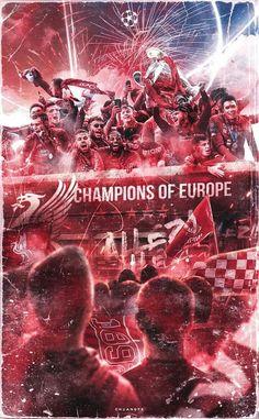 10 Liverpool Fc Champions Of Europe Ideas Liverpool Stadium, Camisa Liverpool, Liverpool Anfield, Liverpool Champions League, Salah Liverpool, Gerrard Liverpool, Liverpool Players, Liverpool Fans, Comic Art