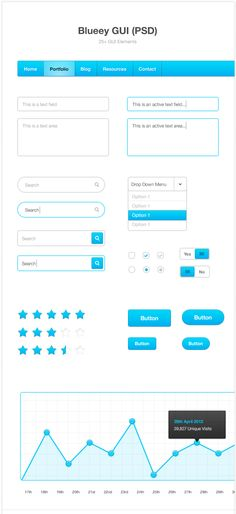 design deck | Blueey GUI (PSD)    Light