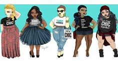 The full @thecurvyfashionista lookbook illustrated by me. #jonquelart #tcfstyle…