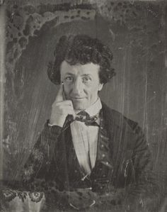 Unidentified man, resting elbow on table. Daguerreotype by Thomas M. Easterly, 1847. Missouri History Museum