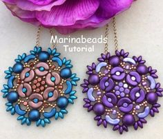 Arcos and Minos beads Beading Projects, Beading Tutorials, Jewelry Patterns, Beading Patterns, Seed Bead Jewelry, Beaded Jewelry, Jewellery, Twin Beads, Beading Techniques