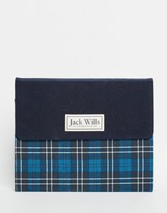 Jack Wills - Custodia per iPad/tablet in tessuto scozzese