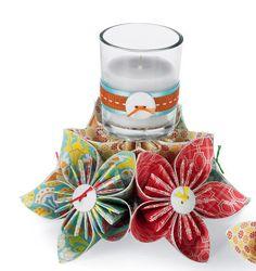 Michaels.com Wedding Department: Origami Flower Votive Holder