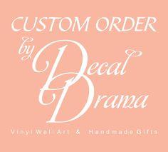 CUSTOM ORDER for Lauren A  Dave Matthews Band Take by DecalDrama, $46.00