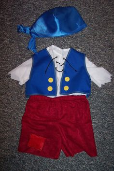 Cubby Costume from Jake and the Neverland Pirates. $65.00, via Etsy.