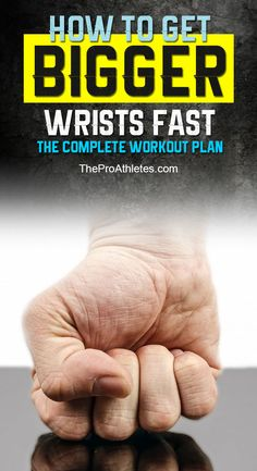 In fact, this lack of attention will cause the imbalance in the overall appearance of the arm. Thus, this piece of writing will provide a step-by-step plan on how to get bigger wrists for everyone. The Complete #workout  Plan To Get Bigger Wrists Quickly - #fitness #strong #training TheProAthletes.com