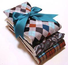 Burp Cloth Set of 3 Premium 6 Ply Burp Cloth by MyRaggyObsession, $12.99