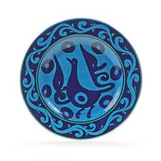 Turkish 7 Turquoise Masterwork Decorative Plate