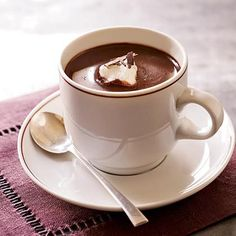 Parisian Hot Chocolate. I want some right now in this -16 degree weather.